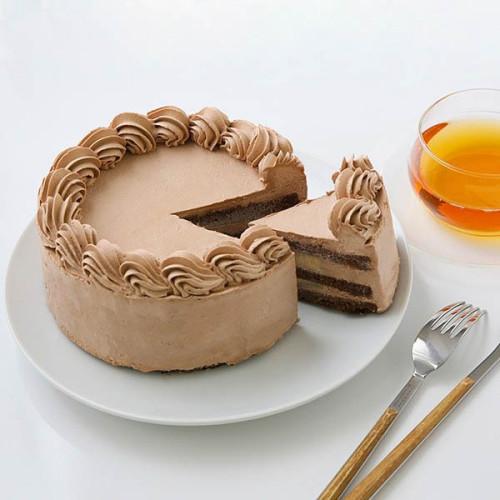 卵・乳製品・小麦粉除去可能 100%植物性チョコクリーム ホールケーキ 5号 15cm