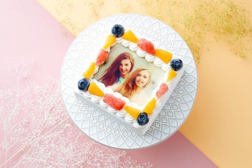 スクエア写真ケーキ 4号 12cm