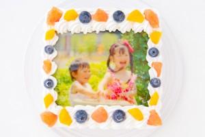 スクエア写真ケーキ 5号 15cm