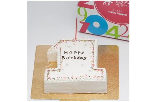 ナンバーケーキ ホワイト 8号 24cm