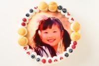 オーダーメード写真ケーキ(生クリーム)24cm(12〜15人用)(1024)