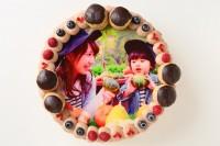 オーダーメード写真ケーキ(チョコクリーム)24cm(12〜15人用)(1030)